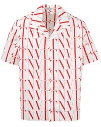 Valentino - Vltn Times Printed Short-sleeve Shirt - Lyst