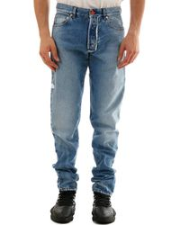 Heron Preston Faded Jeans - Blue