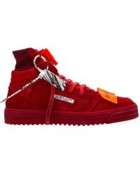 Off-White c/o Virgil Abloh Shoes High Top Trainers Trainers 3.0 Off Court - Red