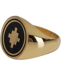 Marcelo Burlon Cross Signet Ring - Metallic