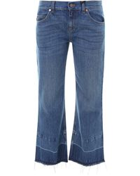 Gucci X Disney Donald Duck Cropped Flared Jeans - Blue