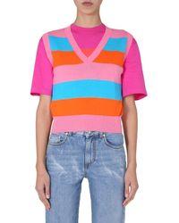 MSGM Sleeveless Vest - Multicolour