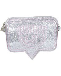 Chiara Ferragni Eyelike Glitter Effect Mini Crossbody Bag - Metallic