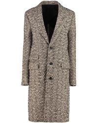 Bottega Veneta Embroidered Stretch Wool Blend Coat Nd - Multicolour