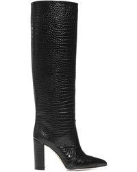 Paris Texas Embossed Knee-high Boots - Black