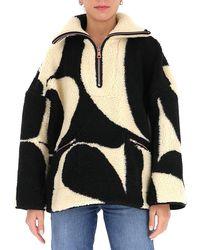 See By Chloé Logo Pattern Oversize Sweater - Black