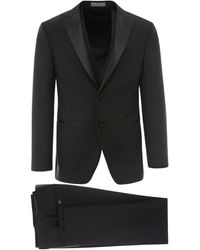 Corneliani Virgin Wool Suit - Black