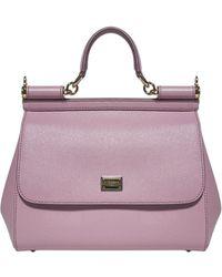 Dolce & Gabbana Sicily Medium Shoulder Bag - Pink
