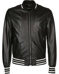 Dolce & Gabbana Logo Bomber Jacket - Black