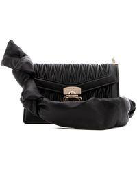 Miu Miu Confidential Matelassé Crossbody Bag - Black