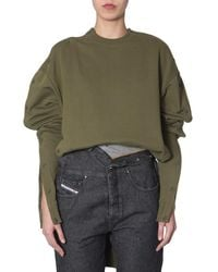 Diesel Red Tag Cotton Sweatshirt In Collab With Glenn Martens - Green