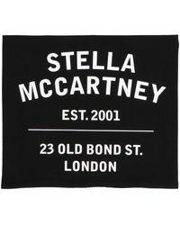 Stella McCartney Logo Print Scarf - Black