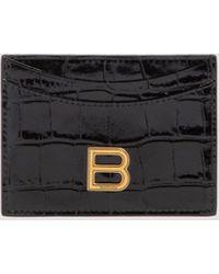 Balenciaga Hourglass Card Holder - Black