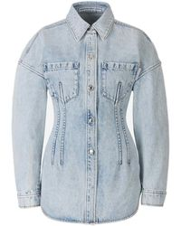 Alexander Wang Button-up Denim Shirt - Blue