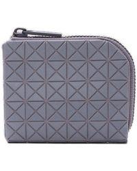 Bao Bao Issey Miyake Geometric Zipped Wallet - Gray