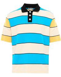Sunnei Striped Polo Shirt - Blue