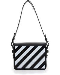 Off-White c/o Virgil Abloh Diagonal Flap Shoulder Bag - Black