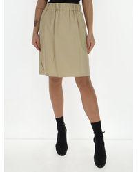 Max Mara Elasticated Waist Mini Skirt - Natural