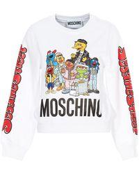 Moschino X Sesame Street Printed Sweatshirt - White