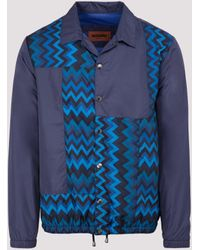 Missoni Zig Zag Patchwork Jacket - Blue