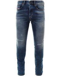 DIESEL Sleenker Skinny Jeans - Blue