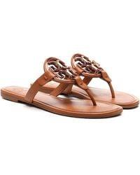 Tory Burch Miller Thong Sandals - Brown