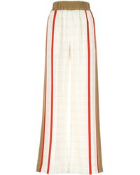Burberry Archive Scarf Print Wide-leg Trousers - White