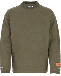 Heron Preston Turtleneck Long-sleeve T-shirt - Green