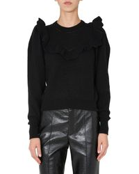 Philosophy Di Lorenzo Serafini Ruffle-detailed Knit Sweater - Black