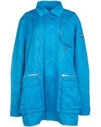 Marine Serre Pocket Detail Zipped Jacket - Blue