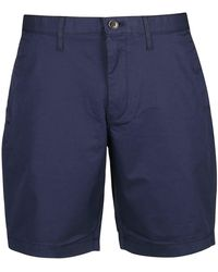 Michael Kors Washed Effect Stretch Shorts - Blue