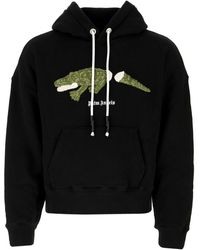 Palm Angels Croco Hoodie - Black