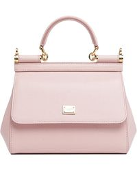 Dolce & Gabbana Sicily Small Tote Bag - Pink