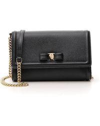 Ferragamo Vara Bow Crossbody Bag - Black