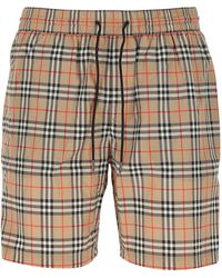 Burberry Vintage Check Swim Shorts - Natural