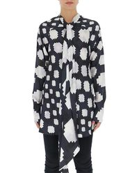 Marni - Graphic Printed Pussybow Blouse - Lyst