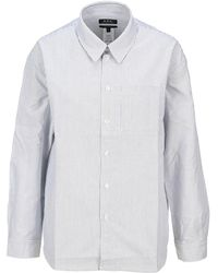 A.P.C. Striped Boyfriend Shirt - Blue
