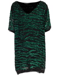P.A.R.O.S.H. Sequin Embellished Striped Dress - Green