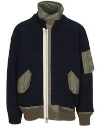 Sacai Zip-up Knitted Jacket - Multicolour