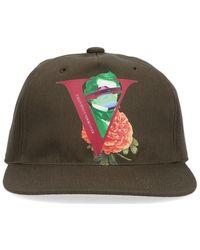 Valentino V Logo Baseball Cap - Green