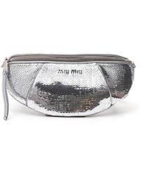 Miu Miu Paillettes Belt Bag - Metallic