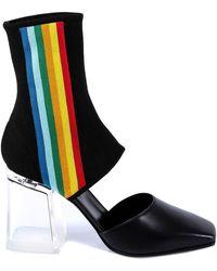 Palm Angels Cut-out Sock Boots - Black