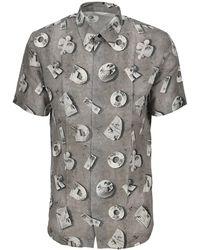 Volcom Crisp T-Shirt Blanc Hommes Basic tshirt avec Circle Stone Logo