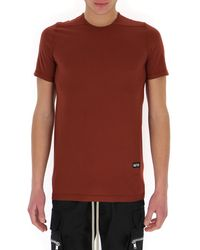 Rick Owens DRKSHDW Crewneck Long T-shirt - Red