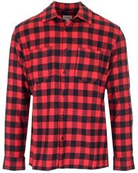 Woolrich Checked Chest Pockets Shirt - Red