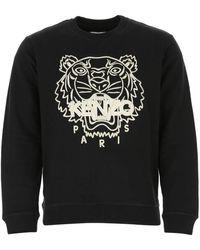 KENZO Black Cotton Sweatshirt Nd Uomo