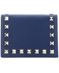 Valentino Garavani Rockstud Small Wallet - Blue