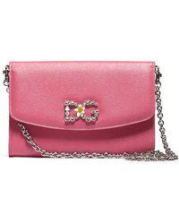Dolce   Gabbana - Embellished Logo Crossbody Bag - Lyst 1ba88acca56fc