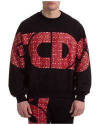 Gcds Sweatshirt Sweat Macro Macro Logo - Black