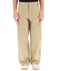 Jacquemus Le Pantalon Quadri Cargo Pants - Natural